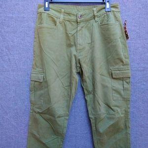 Bongo Skinny Leg Ankle Zippers Cargo Pants